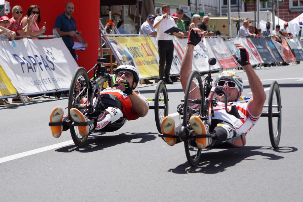 finish handbike with Walter Ablinger
